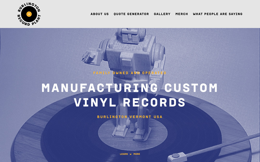 burlingtonrecordplant.com screenshot