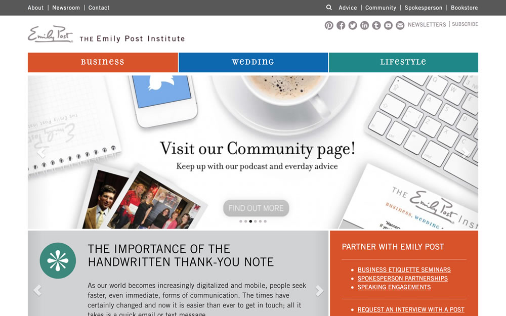 emilypost.com screenshot