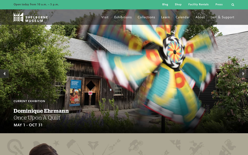 shelburnemuseum.org screenshot