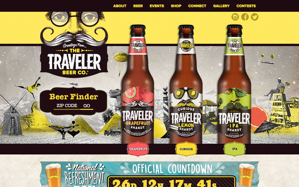 travelerbeer.com screenshot