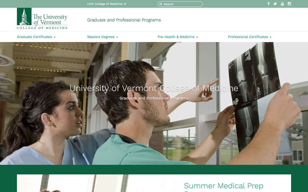 learn.uvm.edu/com screenshot