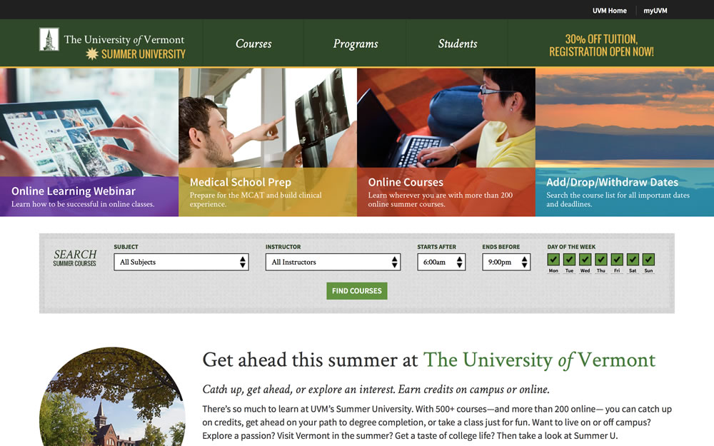 UVM summer screenshot